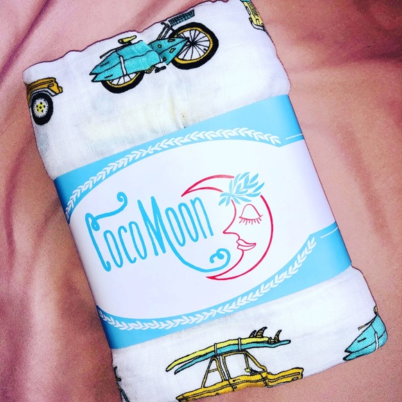 Coco Moon Other - BRAND NEW COCO MOON BABY BOY SWADDLE BLANKET